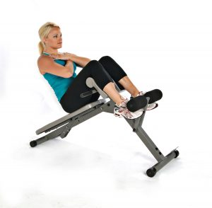 Sit-ups on the Stamina Pro Ab/Hyper Bench