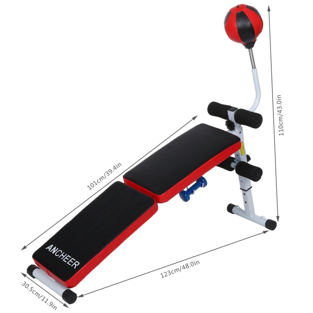ANCHEER Incline Decline Sit-Up AB Bench