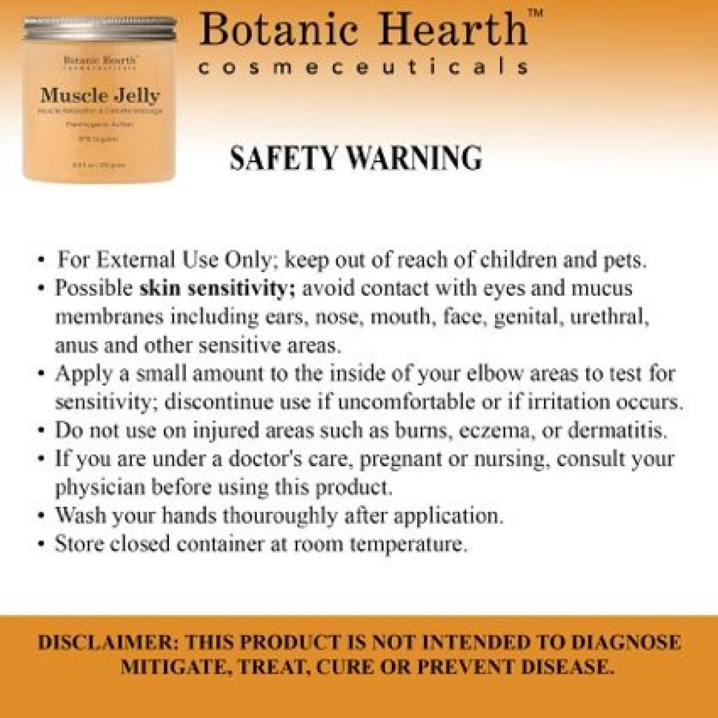 Botanic Hearth Safety Warning
