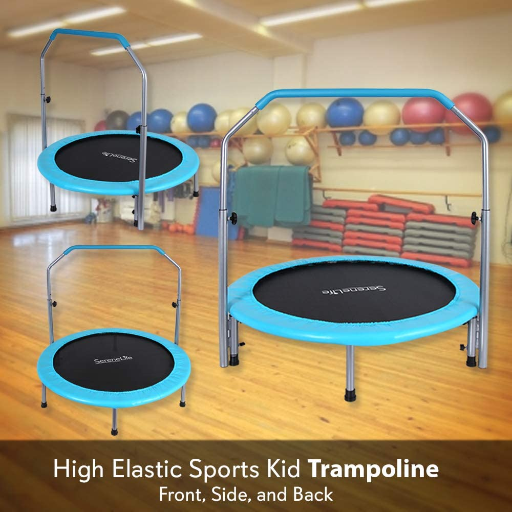 SereneLife Trampoline: Front, Side, and Back